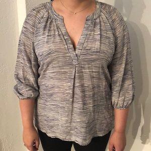 Joie silk zebra patterned blouse size S